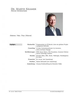 Lebenslauf Dr. Martin Kramer